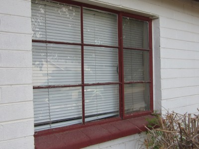 Before- Old Steel Casement Window