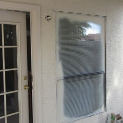 Before- Single Pane Aluminum Window