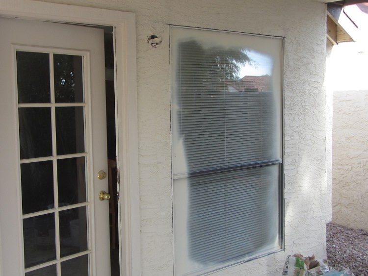 Before- Single Pane Aluminum Window
