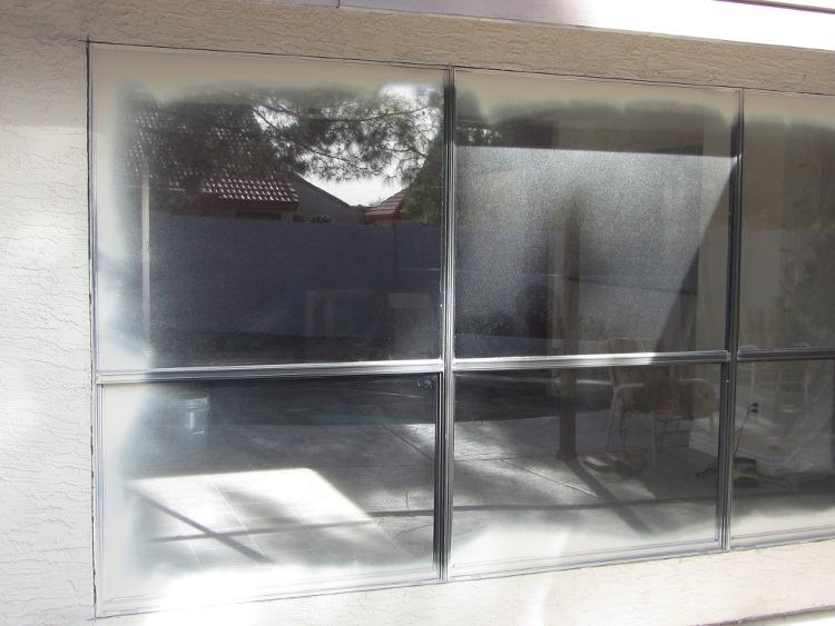 Before - Single Pane Aluminum Windows