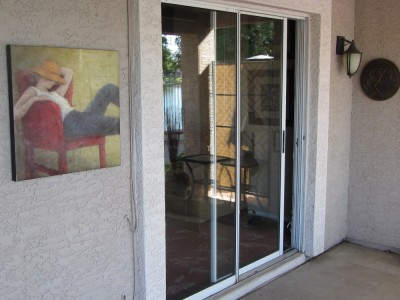 Before- another old aluminum patio door