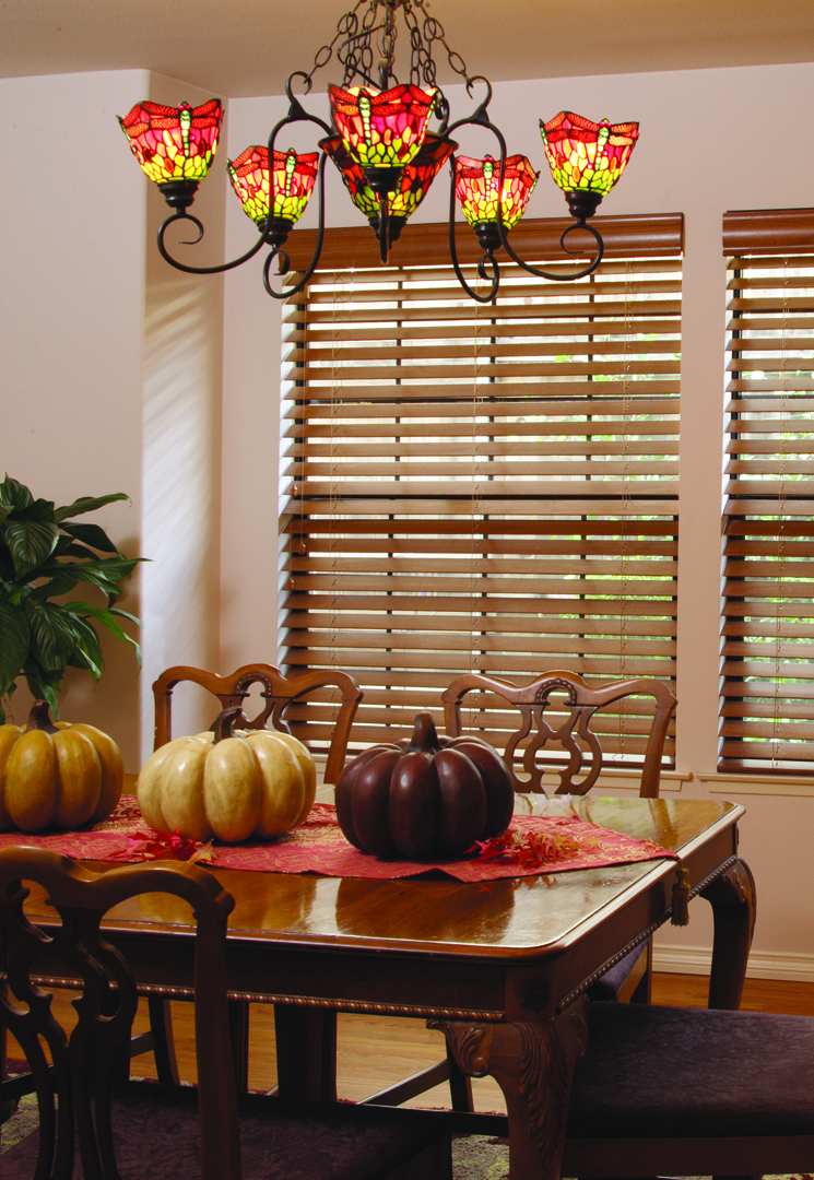 Wood Window Blinds with 3