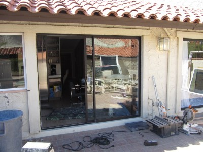 Old Sliding Glass Patio Door