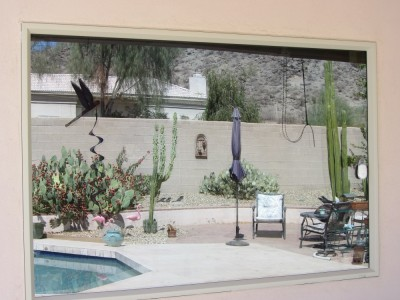 Picture Window Installed by Imperial Windows and Sunscreens