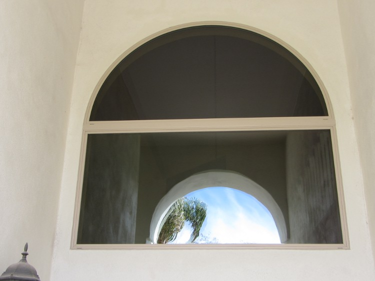 Simonton Vinyl Window- Half round over Picture Window