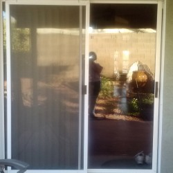 Before- Old Sliding Glass Door