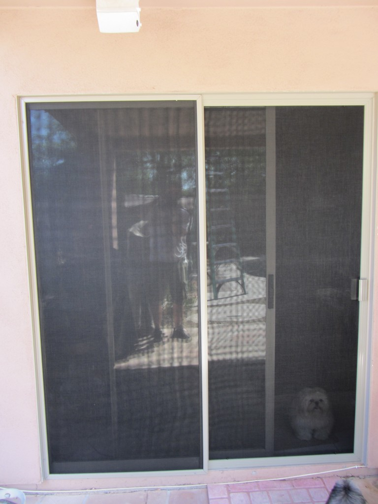 Regal Patio Screen Door and Fixed Panel with Sunscreen mesh